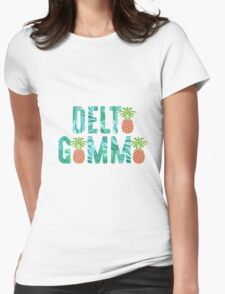 Delta Gamma Pineapple A's Womens Fitted T-Shirt