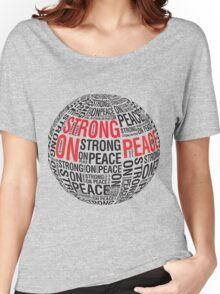 The Globe (Red & Black Text) Women's Relaxed Fit T-Shirt