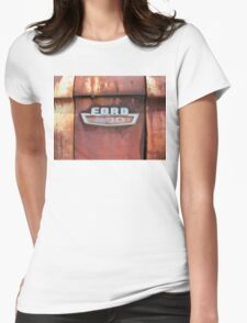 On Rusty White Truck Womens Fitted T-Shirt