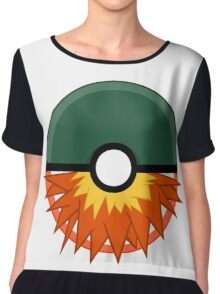 Cyndaquil Themed Poke Ball Chiffon Top