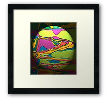 Coloured Liquid Framed Print
