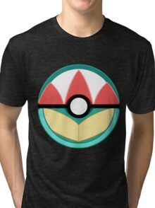 Totodile Themed Poke Ball Tri-blend T-Shirt