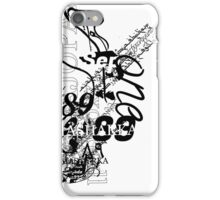 Abstract calligraphy _ fusion Languges  iPhone Case/Skin