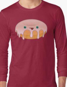 Maple Donut Face Long Sleeve T-Shirt