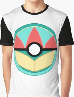 Totodile Themed Complete Poke Ball Graphic T-Shirt