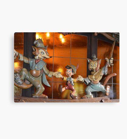 A Fox, A Cat, A Wooden Boy, Marionette Puppet Boy  Canvas Print
