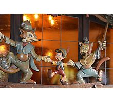 A Fox, A Cat, A Wooden Boy, Marionette Puppet Boy  Photographic Print