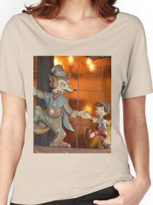 A Fox, A Cat, A Wooden Boy, Marionette Puppet Boy  Women's Relaxed Fit T-Shirt