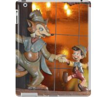 A Fox, A Cat, A Wooden Boy, Marionette Puppet Boy  iPad Case/Skin