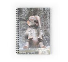 Bath Time Tub Time For Jungle ELEPHANTS Spiral Notebook
