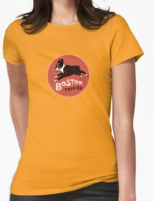 Boston Terrier Retro Style Womens Fitted T-Shirt