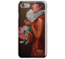 """""""Lady with proteas""""(original sold by Saachi Gallery) iPhone Case/Skin"""
