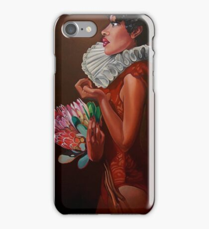 """Lady with proteas""(original sold by Saachi Gallery) iPhone Case/Skin"