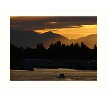 Olympic Sunset Art Print