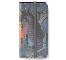 Fire Breathing Dragon Fights (some guy) iPhone Wallet/Case/Skin