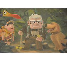 Dug, Kevin, Carl, Ellie, Balloons, Russell, Floating House Photographic Print