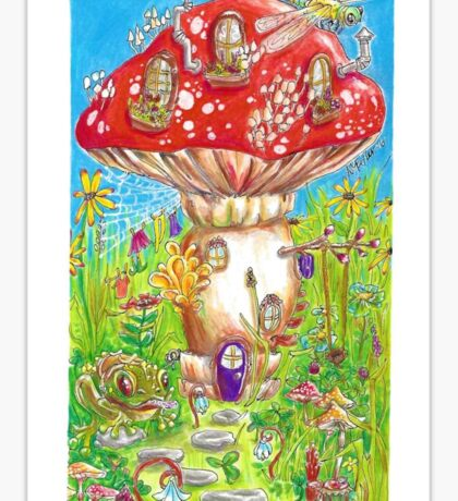Little Mushroom House Sticker