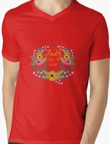 Faith Like A Child Mens V-Neck T-Shirt