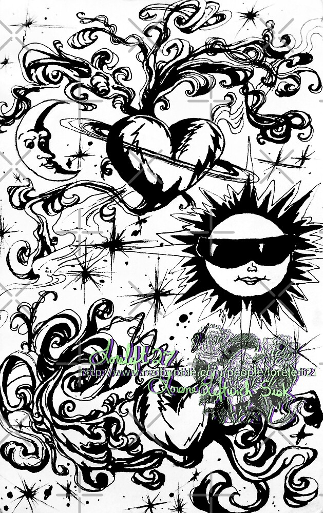 sun moon and stars by LoreLeft27