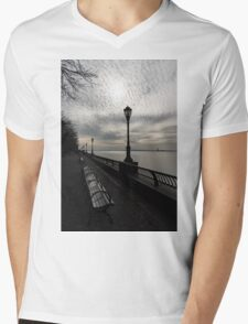 Lines and Patterns - Perspective Study at Manhattan's Esplanade  Mens V-Neck T-Shirt
