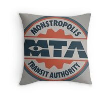 Monsters Transit Public Transportation Energy Screams Throw Pillow