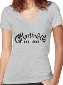 Martin & Co black Women's Fitted V-Neck T-Shirt