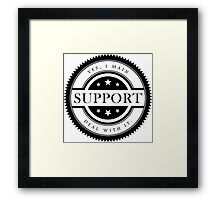 Yes, I Main Support (Black Text) Framed Print