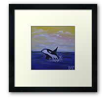 Whale Hello There! Framed Print
