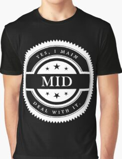 Yes, I Main Mid (White Text) Graphic T-Shirt