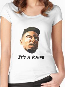 "21 Savage ""It's a knife"" Women's Fitted Scoop T-Shirt"