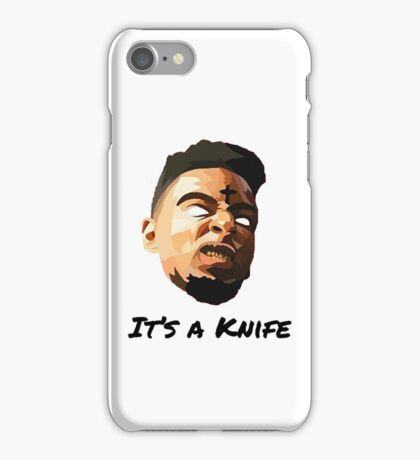 "21 Savage ""It's a knife"" iPhone Case/Skin"