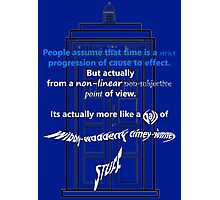 Wibbly-Wobberly Timey-Wimey Photographic Print