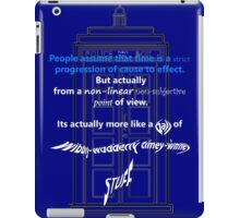 Wibbly-Wobberly Timey-Wimey iPad Case/Skin