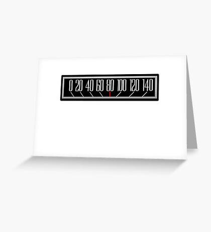 Classic Speedometer Greeting Card