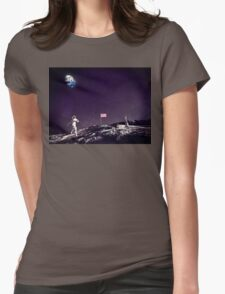 Fun On The Moon Womens Fitted T-Shirt