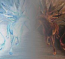 Fire And Ice Horses by Anila Tac