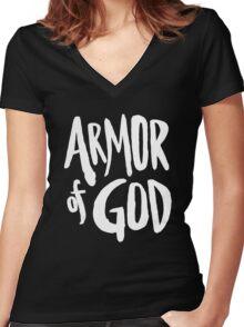 Armor of God II Women's Fitted V-Neck T-Shirt