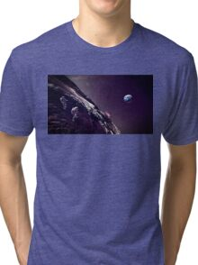 Earth Rise On The Moon Tri-blend T-Shirt