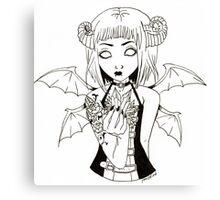 Crystal Demon Canvas Print
