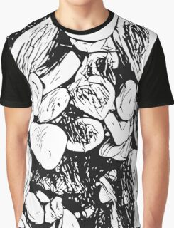 Abstract Ink Rocks Graphic T-Shirt