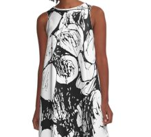 Abstract Ink Rocks A-Line Dress