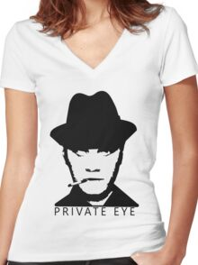 Private Eye - Alkaline Trio Women's Fitted V-Neck T-Shirt