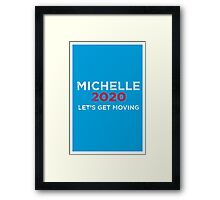 Michelle 2020 Distressed  Framed Print