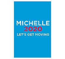 Michelle 2020 Distressed  Photographic Print