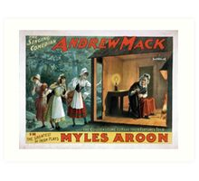 Performing Arts Posters The singing comedian Andrew Mack in the greatest of Irish plays Myles Aroon 1802 Art Print