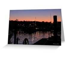Night Lights on the Water Greeting Card