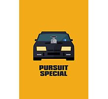 Mad Max Pursuit Special (Text Yellow) Photographic Print