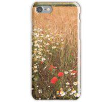 Wheatfield of flowers iPhone Case/Skin