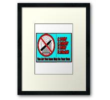 Artists Against Drunk Drawing Framed Print