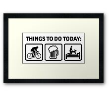 Funny Cycling Things To Do Today Framed Print